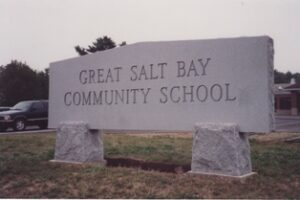 Great Salt Bay Community School Granite Sign